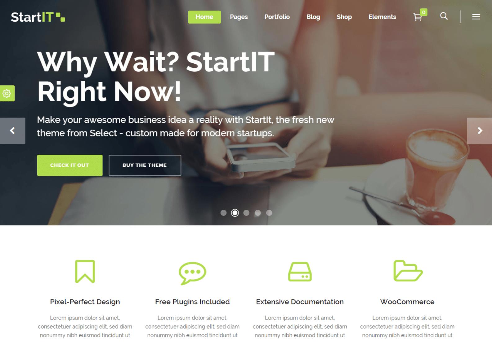WordPress商务企业主题:Startit